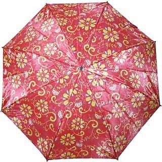 Fendo Floral RedYellow 2-Fold Umbrella