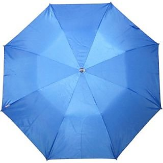 Fendo Plain Blue 2-Fold Umbrella