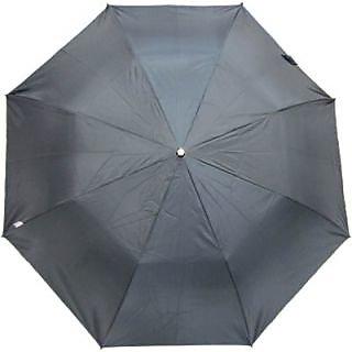 Fendo Plain Black 2-Fold Umbrella