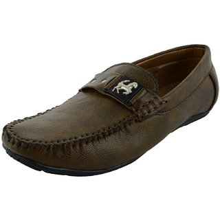 OKAYY brown eagle loafer for men
