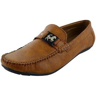 OKAYY tan eagle loafer for men