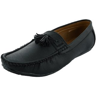 OKAYY black small lace loafer for men