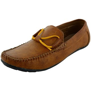 OKAYY tan color lace loafer for men