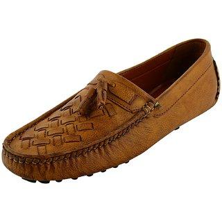 OKAYY tan driving loafer for men
