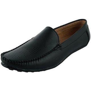 OKAYY black imbosing loafer for men