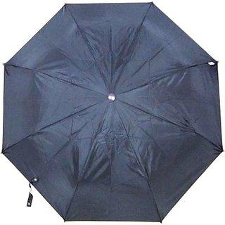 Fendo Plain Black 3-Fold Umbrella