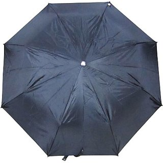 Fendo Plain Black 3-Fold Umbrella