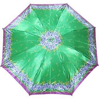 Fendo Floral GreenPurple 2-Fold Umbrella
