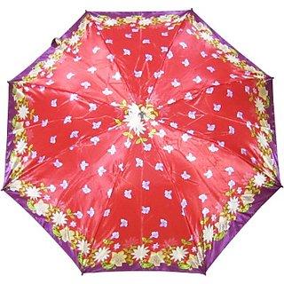Fendo Floral RedPurple 2-Fold Umbrella