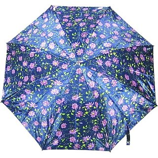 Fendo Floral BluePurple 2-Fold Umbrella