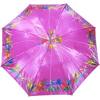 Fendo Floral PinkBlue 2-Fold Umbrella
