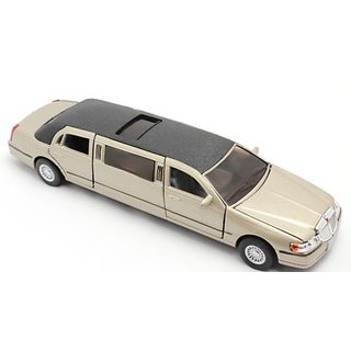 Kinsmart 1999 Lincoln Town Car Stretch Limousine 138 scale 7 diecast (colors gold.white.black)