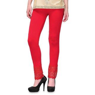Womens Cotton Palazzo Legging Red Colour