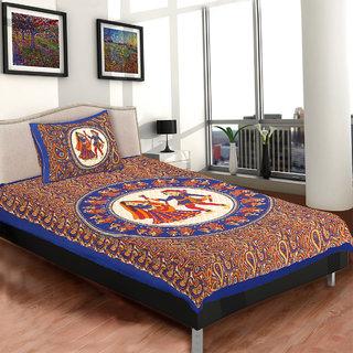 Chokor Jaipuri Cotton Single Bedsheet