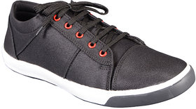 Groofer Mens Black Lace-Up Casual Shoes