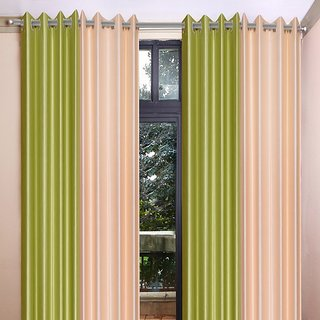 Akash Ganga Polyester Multicolor Eyelet Door Curtains (Set of 4) (7 Feet) CUR4-ST-349-7