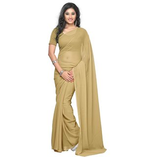 1 Crazy Designer Multicolor Georgette Self Design Saree With Blouse