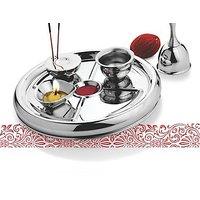Garuda Stainless Steel Mirror Finish Pooja Thali - 5 Pc