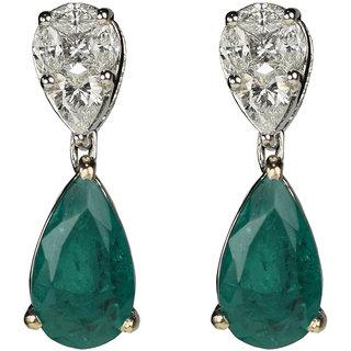 UpperGirdle 18 KT White Gold Plating Diamond earrings (Verduous Youth)