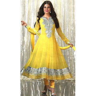 Aradhya Yellow Suits Party Wear Dress Material (Unstitched)
