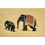 Painting Of Elephant And Baby Elephant