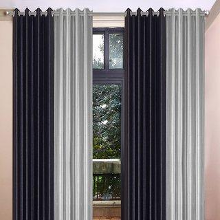 Akash Ganga Polyester Multicolor Eyelet Door Curtains (Set of 4) (7 Feet) CUR4-ST-370-7