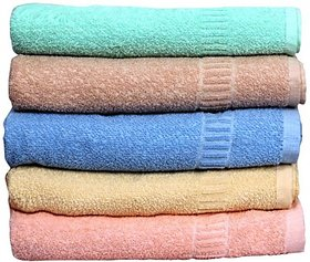 bebcollections  Cotton Bath Towel(5 Bath Towels, Multicolor)