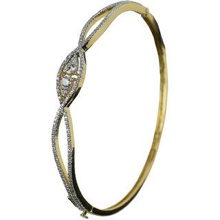 UpperGirdle Everning Shine Designer Gold Bracelet for Women