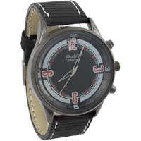 Addic Oudi Black Dial With Red Details With Black Strap Watch For Men