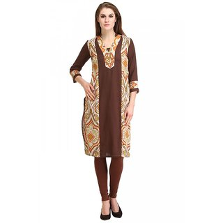 kanahshri brown long kurti ks-60