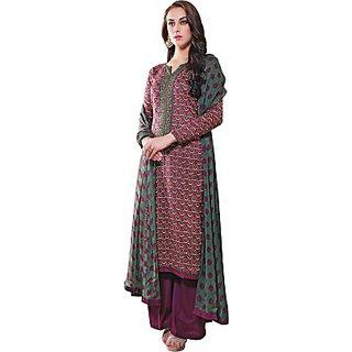 Porwal Bros Chanderi Embroidered Salwar Suit Dupatta Material  FABEFRYQFSVVKUMW