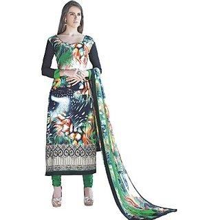 Porwal Bros Crepe Embroidered, Graphic Print Salwar Suit Dupatta Material  FABE44NYHX8UVNDE