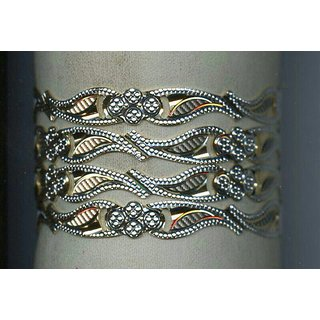 Artificial gold plated bangles set of 4