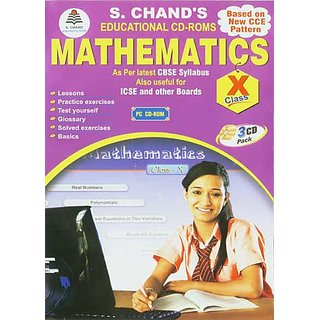 CLASS 10 - S CHAND  MATHEMATICS (3 CDs)