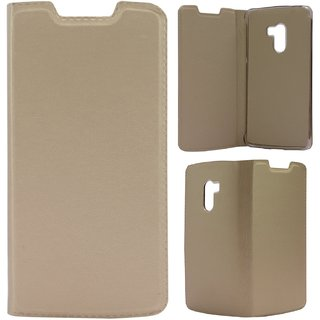 low priced 58a5a dcef7 SS Finish PU Leather Flip Cover Case for Lenovo Vibe K4 Note (Gold)
