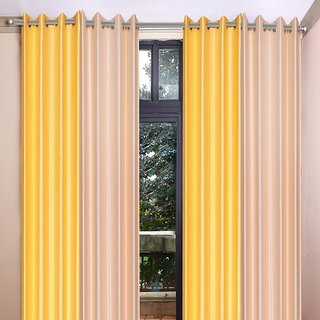 Akash Ganga Polyester Multicolor Long Door Eyelet Curtains (Set of 4) (9 Feet) CUR4-ST-447-9