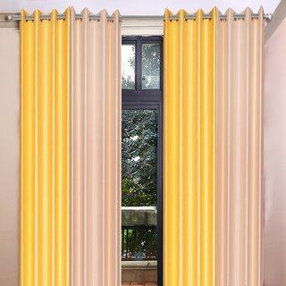 Akash Ganga Polyester Multicolor Long Door Eyelet Curtains (Set of 4) (9 Feet) CUR4-ST-462-9