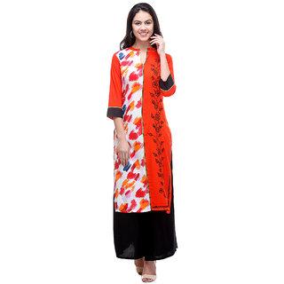 Varanga Multi Rayon Embroidered Straight Kurta