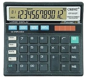 Branded Orpat OT 512 T Calculator With 12 Digit and Correct and Check Feature