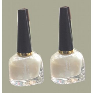 White Nail Paint/Color (Set of 2)