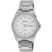 Omax Stainless Steel Men Casual Watch with Day and Date Feature