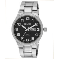 Omax Stainless Steel Men Semi Formal Watch With Day And Date Feature