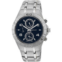 Omax Stainless Steel Men Blue Dial Multifunction Watch