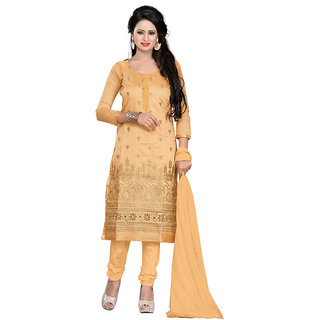 Shaili Chiku Chanderi Top Straight Unstiched Salwar Suit Dress Material
