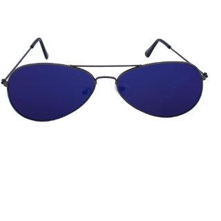 Blue-Tuff Unisex Flat Aviator Sunglass -Flat-Grey-blue-mercury