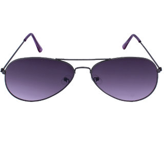 Blue-Tuff Unisex Flat Aviator Sunglass -Flat-Grey-Purple-Gradient