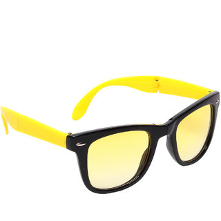 Blue-Tuff Unisex Folding wayfarer Sunglass -FOLDING-WAYFARER-YELLOW