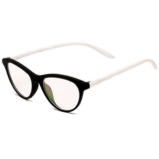 Blue-Tuff Unisex Cat-Eye Sunglass -CAT-EYE-WHITE