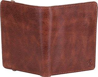Walletsnbags Men Tan Genuine Leather Wallet(9 Card Slots)