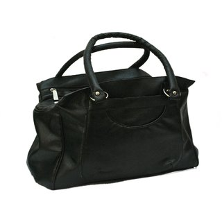 Stylish Look Ladies Handbag - Black